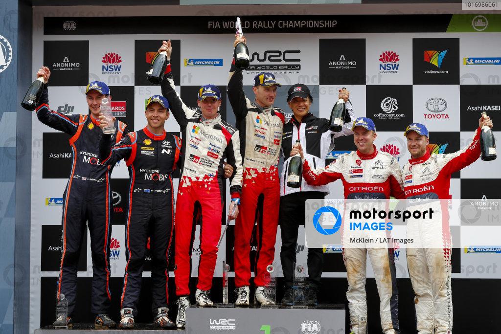 Jari-Matti Latvala and Mikka Anttila, Toyota Gazoo Racing, Toyota Yaris WRC 2018, winners of Rally Australia