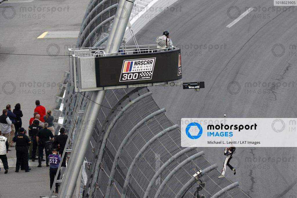 #9: Noah Gragson, JR Motorsports, Chevrolet Camaro, burnout, celebration, water bottle