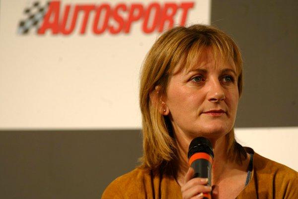 2003 Autosport International.Louise Goodman.NEC, Birmingham, England.9-12th January 2003.World Copyright: Spinney/LAT Photographic.Ref.:Digital Image Only.