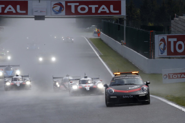 Safety car on track.