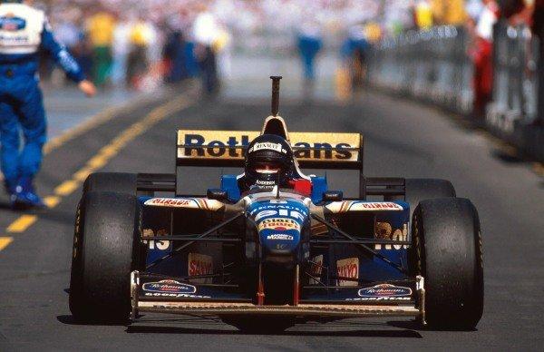 Winner Damon Hill (GBR) Williams FW18 Formlula One World Championship, Rd1, Australian Grand Prix, Melbourne, Australia, 10 March 1996.