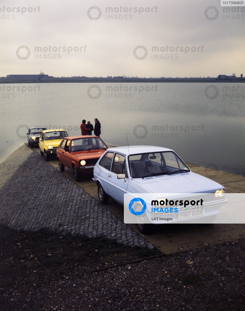 Ford Fiesta, VW Polo, Renault 5, and Fiat 127.