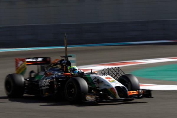 Yas Marina Circuit, Abu Dhabi, United Arab Emirates. Wednesday 26 November 2014. Spike Goddard, Force India VJM07 Mercedes.  World Copyright: Sam Bloxham/LAT Photographic. ref: Digital Image _G7C8941