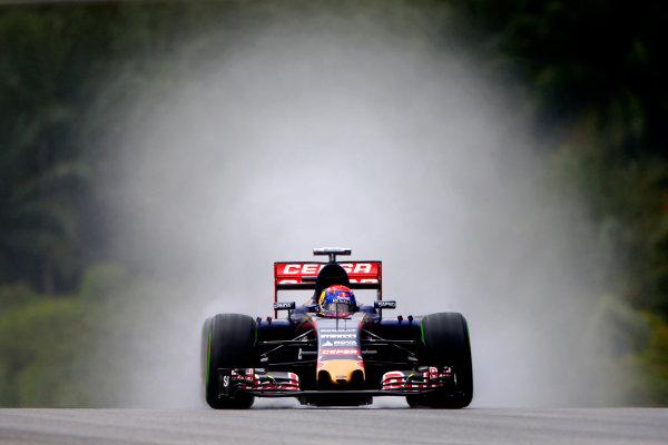 Sepang International Circuit, Sepang, Kuala Lumpur, Malaysia. Saturday 28 March 2015. Max Verstappen, Toro Rosso STR10 Renault. World Copyright: Andrew Hone/LAT Photographic. ref: Digital Image _ONY0280