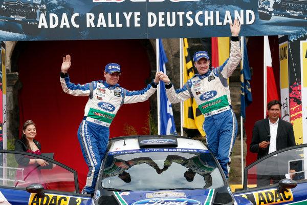 Round 09-Rallye Deutschland 23-26/8-2012.Jari/Matti Latvala, Miikka Anttila, Ford WRC, Podium.Worldwide Copyright: McKlein/LAT
