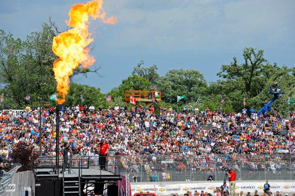 1-2 June, 2012, Detroit, Michigan, USAIndy 500 winner Dario Franchitti (#10) at driver intros.(c)2012, F. Peirce WilliamsLAT Photo USA