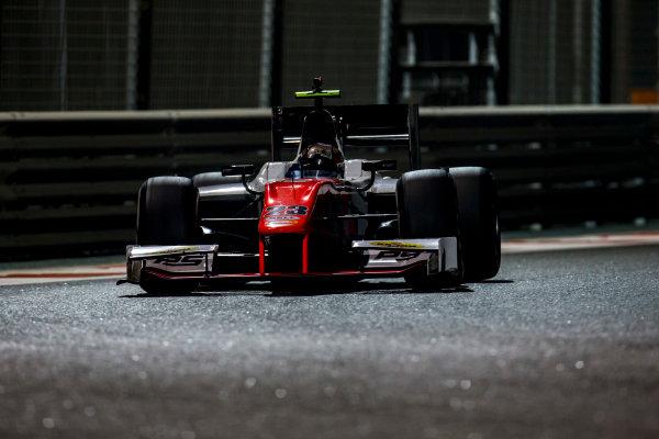 2016 GP2 Series Test 3 Yas Marina Circuit, Abu Dhabi, United Arab Emirates. Friday 2 December 2016. Mahaveer Raghunathan (IND, MP Motorsport)  Photo: Zak Mauger/GP2 Series Media Service. ref: Digital Image _L0U4831
