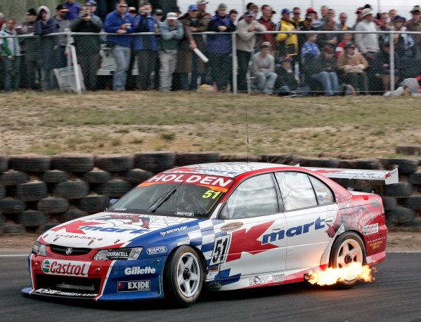 2004 Australian V8 SupercarsSymmons Plain Raceway, Tasmania. November 14th.V8 Supercar driver Greg Murphy keeps his championship hopes alive after finishing 2nd in Round 12. World Copyright: Mark Horsburgh/LAT Photographicref: Digital Image Only