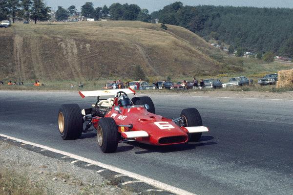 1969 Canadian Grand Prix.Mosport Park, Ontario, Canada.18-20 September 1969.Pedro Rodriguez (Ferrari 312).Ref-69 CAN 70.World Copyright - LAT Photographic