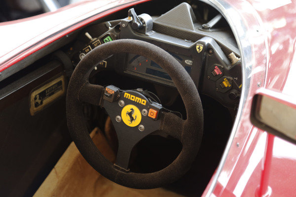 2015 Goodwood Festival of Speed.  Goodwood Estate, West Sussex, England. 25th - 28th June 2015.  Cockpit of Ferrari 641.  Ref: KW5_3485a. World copyright: Kevin Wood/LAT Photographic