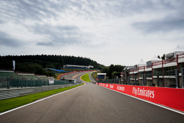 2017 FIA Formula 2 Round 8. Spa-Francorchamps, Spa, Belgium. Thursday 24 August 2017. A view of the track. Photo: Zak Mauger/FIA Formula 2. ref: Digital Image _54I9472