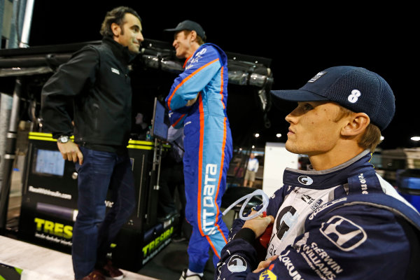 Verizon IndyCar Series Desert Diamond West Valley Phoenix Grand Prix Phoenix Raceway, Avondale, AZ USA Friday 28 April 2017 Dario Franchitti, Scott Dixon, Chip Ganassi Racing Teams Honda and Max Chilton, Chip Ganassi Racing Teams Honda World Copyright: Phillip Abbott LAT Images