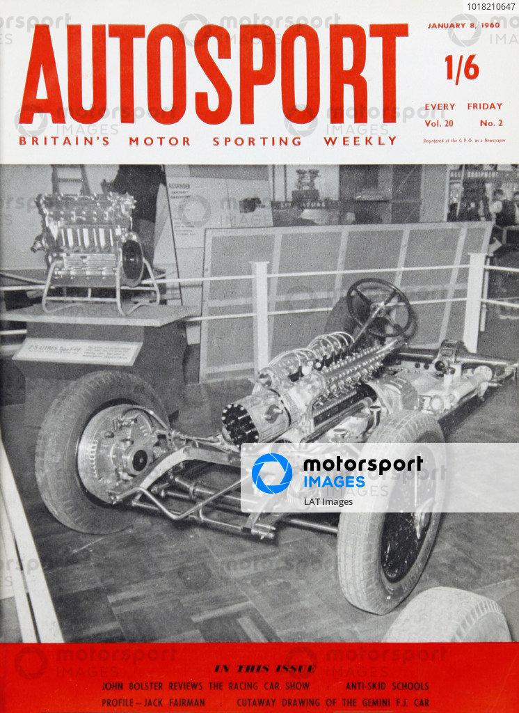 Cover of Autosport magazine, 8th January 1960
