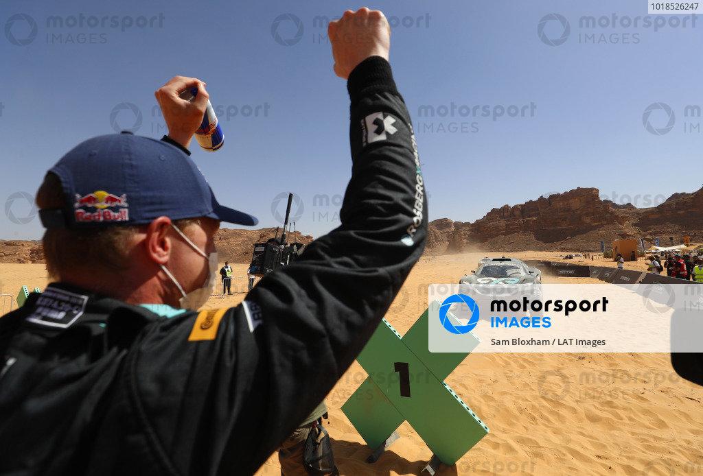Molly Taylor (AUS)/Johan Kristoffersson (SWE), Rosberg X Racing celebrate winning