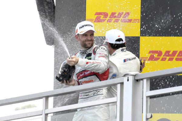 Podium, Jamie Green, Audi Sport Team Rosberg.