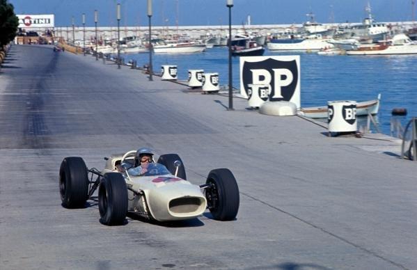 Richie Ginther (USA) Honda RA272. DNF. Monaco Grand Prix, Monte Carlo, Monaco, 30 May 1965.