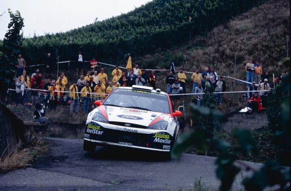 2002 World Rally Championship.ADAC Rallye Deutschland, Trier, Germany. August 22nd - 25th 2002.Colin McRae/Nicky Grist (Ford Focus WRC 02), action.Photo: McKlein/LAT Photographicref: 35mm Image A24