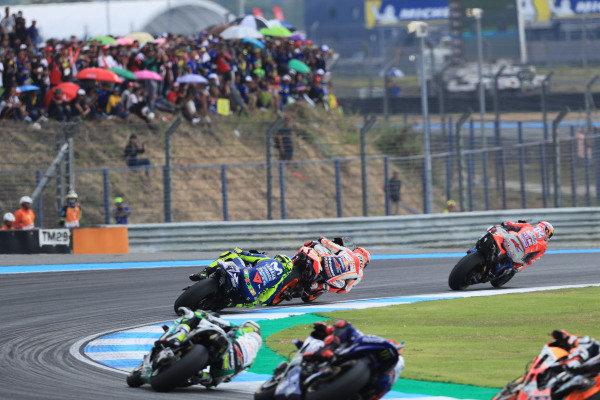 Dovizioso. Marc Marquez, Repsol Honda Team, Valentino Rossi, Yamaha Factory Racing.