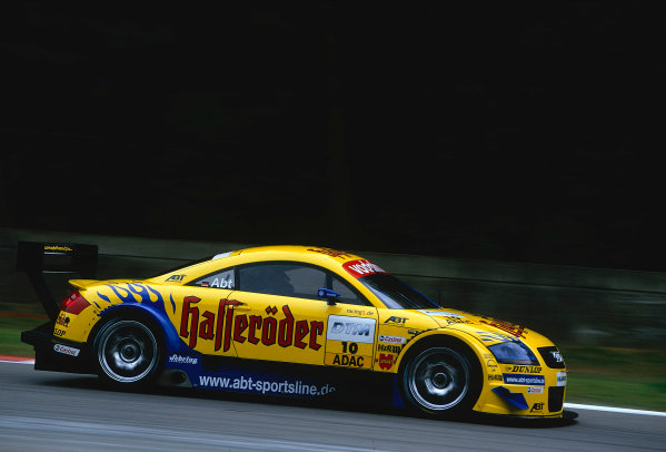 2002 DTM Championship, Zolder, Belgium. Rd 2, 4th-5th May 2002.Christian Abt (D), Abt-Audi TT-R2nd position.World Copyright: Lawrence/LAT Photographic