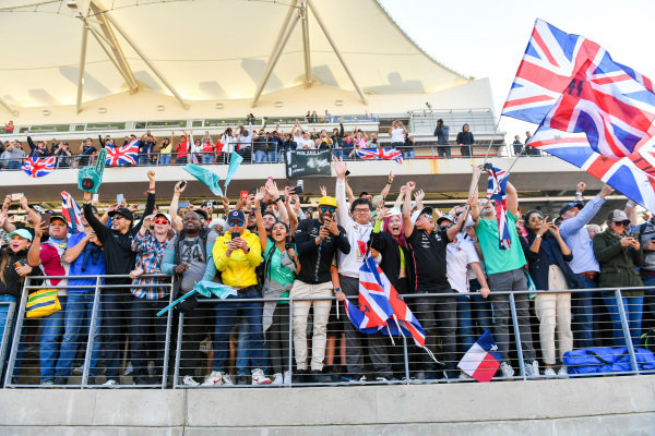 Fans and supporters of Lewis Hamilton, Mercedes AMG F1