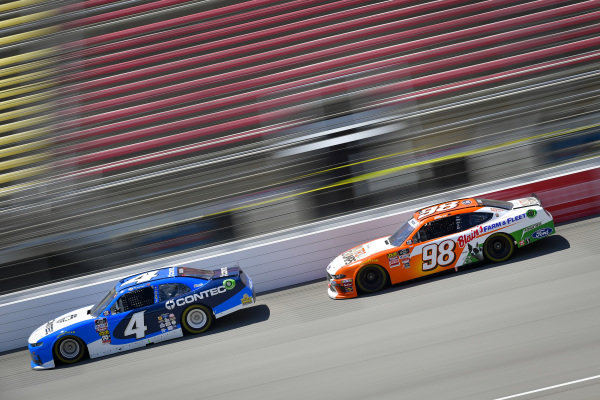 #4: Ross Chastain, JD Motorsports, Chevrolet Camaro Contec, #98: Chase Briscoe, Stewart-Haas Racing, Ford Mustang Nutri Chomps/Blain's Farm & Fleet