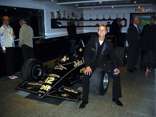 Johnny Bute (GBR), the seventh Marquis of Bute, and host of the Mount Stuart Classic, with the Lotus Renault 98T he drove in the 1986 Formula One season.
