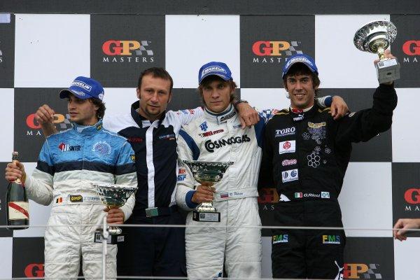 2006 F3000 Championship Silverstone, England. 13th August 2006 Podium (l to r): d'Ambrosio, Petrov, Ricci. World Copyright - Ebrey/LAT Photographic