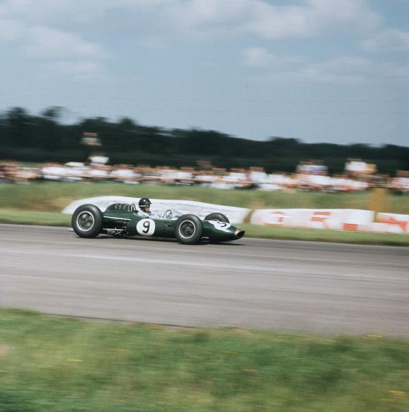 Silverstone, England.18-20 July 1963.Dan Gurney (Brabham BT7 Climax).Ref-3/1003.World Copyright - LAT Photographic