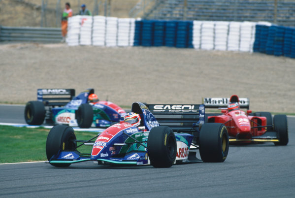 Jerez, Spain. 14th - 16th October 1994. Rubens Barrichello (Jordan 194-Hart), 12th position, action.  World Copyright: LAT Photographic. Ref: Colour Transparency.