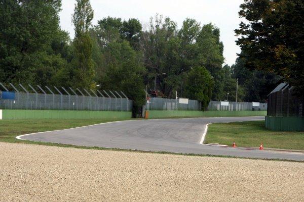 The entrance to the Tamburello chicane.Imola Track Walk, Imola, San Marino, Thursday 17 September 2009.