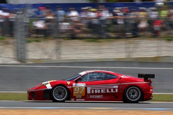 Fabio Babini (ITA) / Matteo Malucelli (ITA) / Paolo Ruberti (ITA) BMS Scuderia Italia Ferrari F430 GT. Le Mans 24 Hours, La Sarthe, Le Mans, France, 13-14 June 2009.