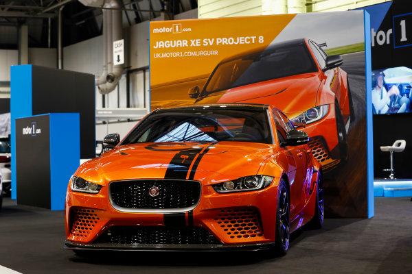 Autosport International Exhibition. National Exhibition Centre, Birmingham, UK. Thursday 11th January 2017. The Jaguar XE SV Project 8.World Copyright: Glenn Dunbar/LAT Images Ref: _X4I4060