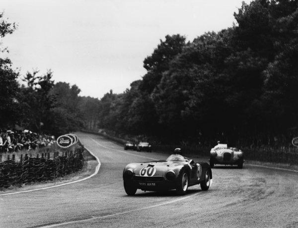 Le Mans, France. 23rd - 24th June 1951 Jean de Montremy/Jean Hemard (Monopole Panhard). 25th position, action. World Copyright: LAT Photographic Ref: B/WPRINT.