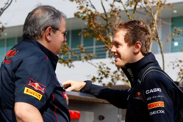 Korea International Circuit, Yeongam-Gun,South Korea.16th October 2011.Sebastian Vettel, Red Bull Racing RB7 Renault. World Copyright:Charles Coates/LAT Photographicref: Digital Image _X5J7295