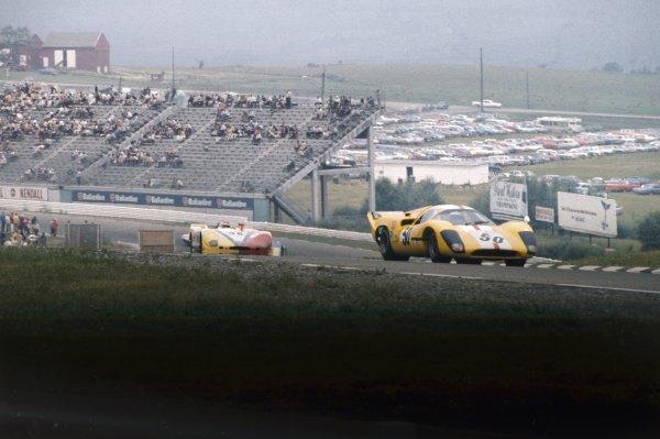 Watkins Glen. USA. 11th July 1970.Jo Bonnier/Reine Wisell, Lola T70 Mk3B, 8th position, action.World Copyright: LAT PhotographicRef: