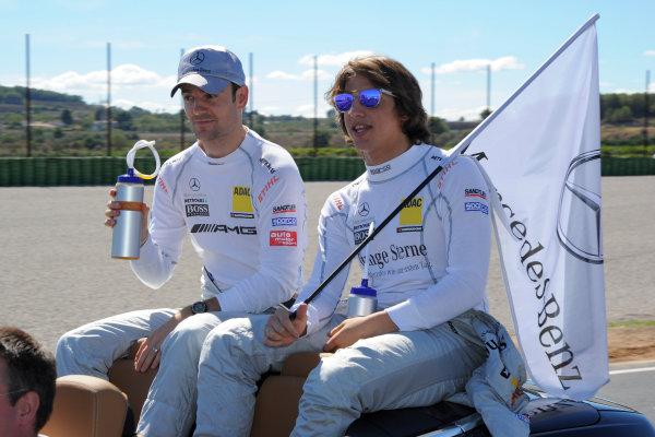Round 9 - Valencia, Spain28th - 30th September 2012Roberto Merhi (ESP) Persson Motorsport; Jamie Green (GBR), Team HWA AMG MercedesWorld Copyright:  XPB Images / LAT Photographicref: Digital Image 2375572_HiRes