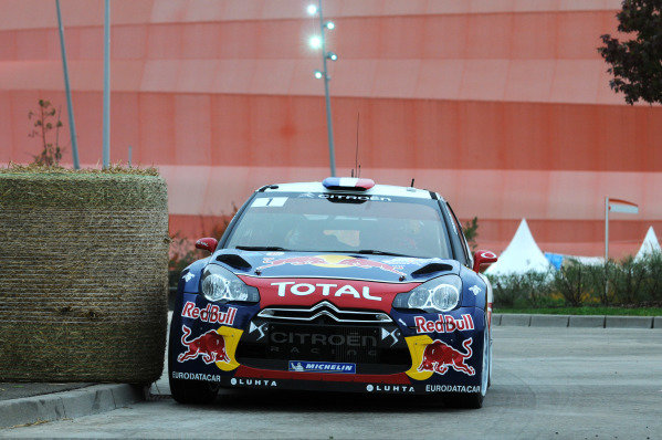 Sebastien Loeb (FRA) and Daniel Elena (MON), Citroen DS3 WRC on the shakedown stage. FIA World Rally Championship, Rd11, Rallye De France, Strasbourg, Alsace, France, Shakedown, Thursday 4 October 2012.