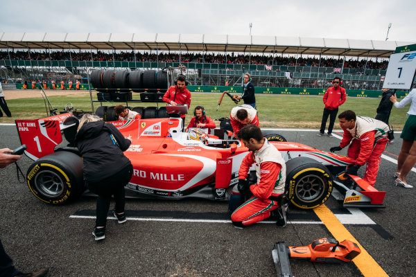 2017 FIA Formula 2 Round 6. Silverstone, Northamptonshire, UK. Saturday 15 July 2017. Charles Leclerc (MCO, PREMA Racing).  Photo: Malcolm Griffiths/FIA Formula 2. ref: Digital Image MALC6214