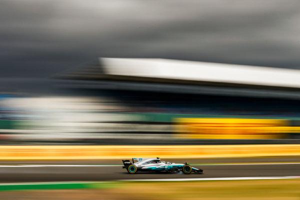Silverstone, Northamptonshire, UK.  Friday 14 July 2017. Valtteri Bottas, Mercedes F1 W08 EQ Power+. World Copyright: Glenn Dunbar/LAT Images  ref: Digital Image _31I3333