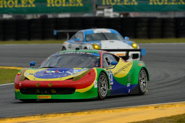 22-25 January, 2015, Daytona Beach, Florida USA 64, Ferrari, 458 Italia, GTD, Francisco Longo, Daniel Serra, Marcos Gomes, Andrea Bertolini ©2015, Richard Dole LAT Photo USA