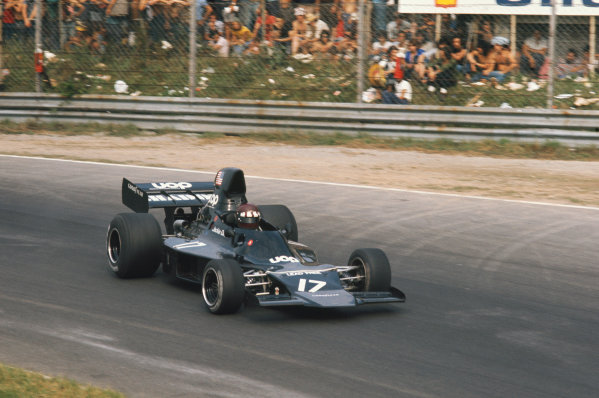 1973 Italian Grand Prix.  Monza, Italy. 7-9th September 1973.  Jackie Oliver, Shadow DN1 Ford, 11th position.  Ref: 73ITA40. World copyright: LAT Photographic