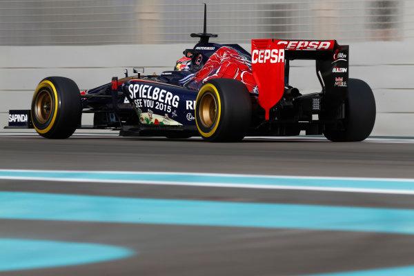 Yas Marina Circuit, Abu Dhabi, United Arab Emirates. Tuesday 25 November 2014. Max Verstappen, Toro Rosso STR9 Renault.  World Copyright: Sam Bloxham/LAT Photographic. ref: Digital Image _SBL8274