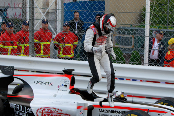 2013 GP2 Series. Round 4.  Monte Carlo, Monaco. 54th May 2013. Saturday Race. Stefano Coletti (MON, Rapax) celebrates his victory. World Copyright: Glenn Dunbar/GP2 Series Media Service. Ref: _G7C0849