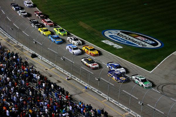 11-13 April, 2013, Fort Worth, Texas, USA Kyle Busch leads the final restart © 2013, Michael L. Levitt LAT Photo USA