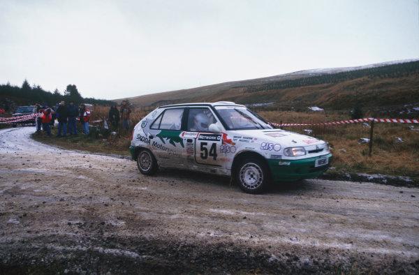 Cheltenham, England. 23rd - 25th November 1996.Tiff Needell/Brian Hardie (Skoda Felicia Kit Car), 54th position, action. World Copyright: LAT Photographic.Ref:  96WRC 01.