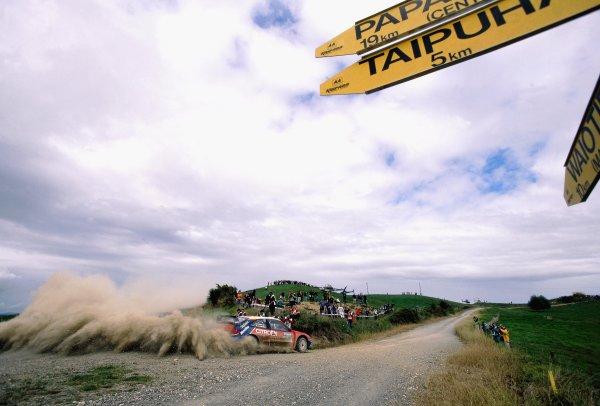 2003 World Rally ChampionshipRally New Zealand. 9th - 13th April 2003.Sebastien Loeb/Daniel Elena (Citroen Xsara), 4th position.World Copyright: LAT Photographicref: 35mm Image A16