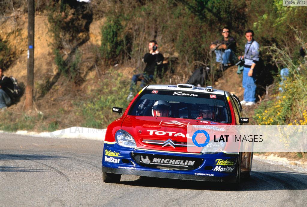 2003 World Rally ChampionshipTour De Corsica. 15th - 19th October 2003.Colin McRae/Derek Ringer (Citroen Xsara WRC),actionWorld Copyright: McKlien/ LAT Photographicref: 35mm Corsica xx
