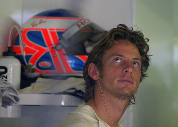 2004 Belgian Grand Prix - Friday Practice,Spa-Francorchamps, Belgium. 27th August 2004 Jenson Button, BAR Honda 006, portrait.World Copyright: Steve Etherington/LAT Photographic ref: Digital Image Only