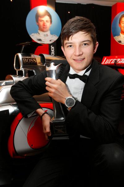 Sunday 2nd December 2012  2012 McLaren Autosport BRDC Young Driver of the Year Award winner Jake Dennis. World Copyright:Glenn Dunbar/  ref: Digital Image _89P1125