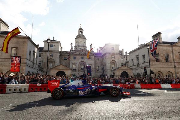 London, United Kingdom.  Wednesday 12 July 2017. Carlos Sainz Jr, Toro Rosso STR12 Renault.  World Copyright: Glenn Dunbar/LAT Images  ref: Digital Image _31I9782